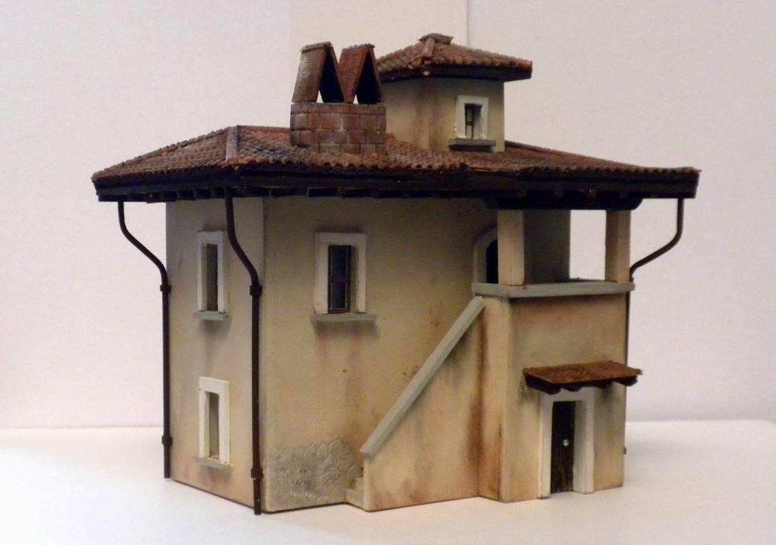 Bottega dei plastici 091 come realizzare una casa rurale for Case facili da costruire