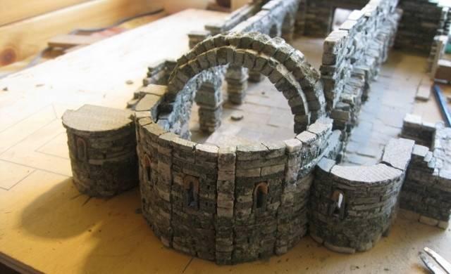 Bottega dei plastici 088 la chiesa di arnad in scala 1 75 - Costruire casa in pietra ...