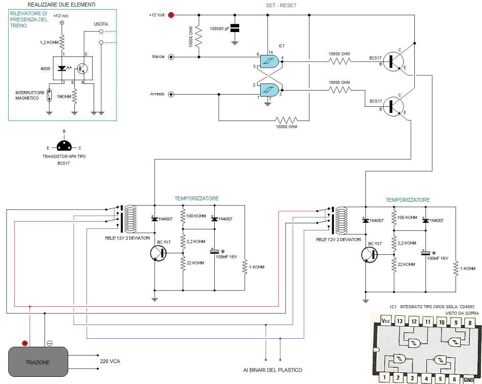 Schema Elettrico Per Temporizzatore : Bottega dei plastici come realizzare un impianto