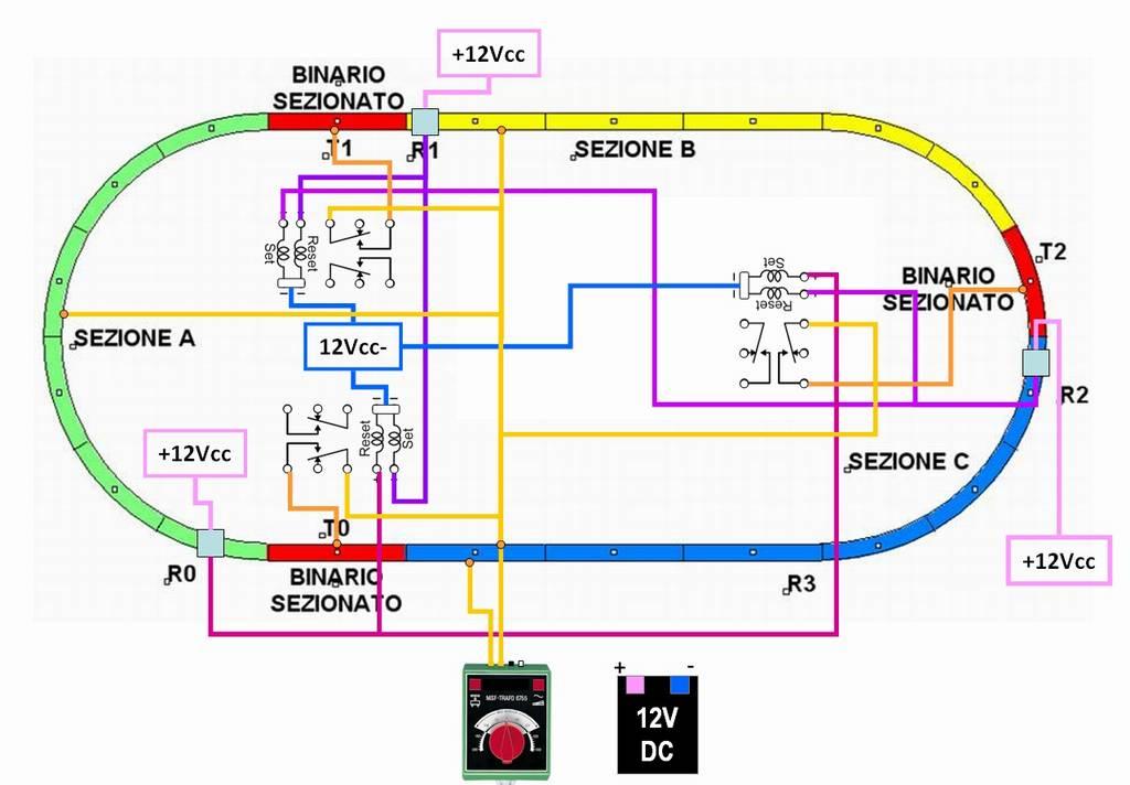 Schema Elettrico Per Plastico Ferroviario : Sistema di blocco elettrico automatico pagina