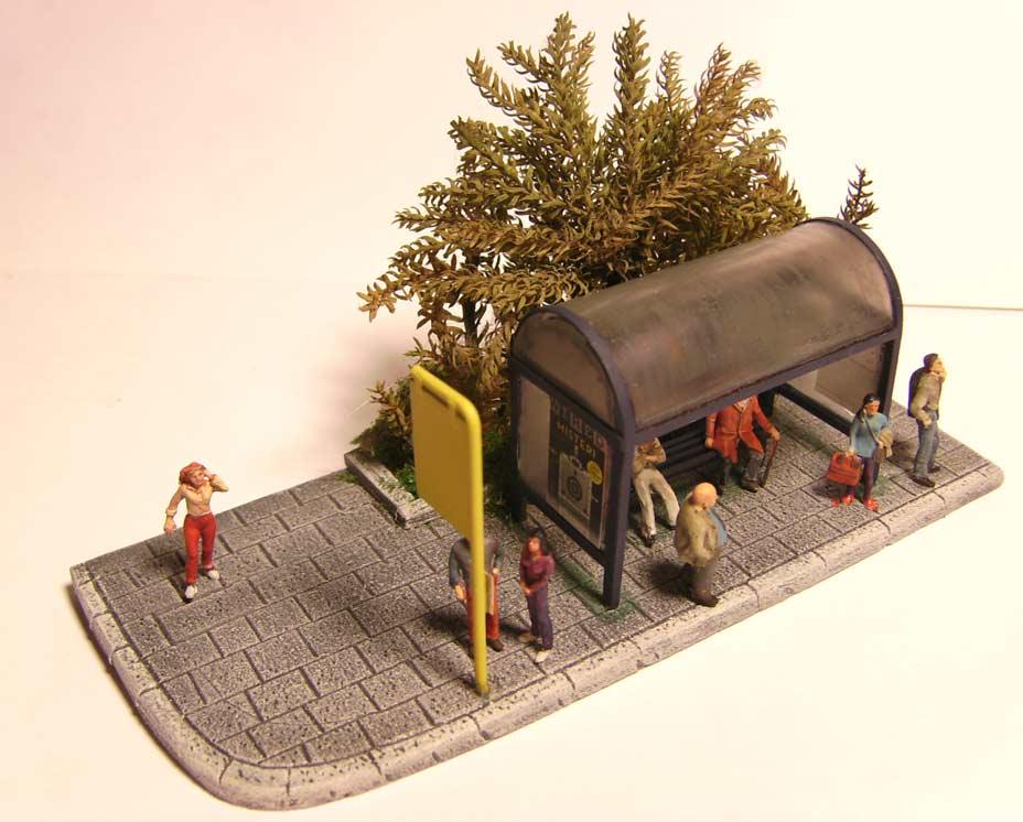 Bottega dei plastici 093 come realizzare una fermata dell for Come risparmiare denaro per costruire una casa