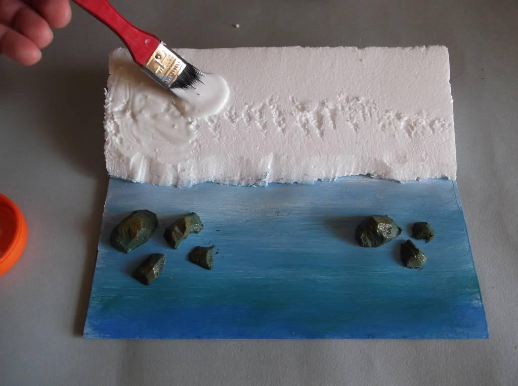 Bottega dei plastici 116 come riprodurre il mare con un fondale realistico - Sopra un mare di specchi si vola ...