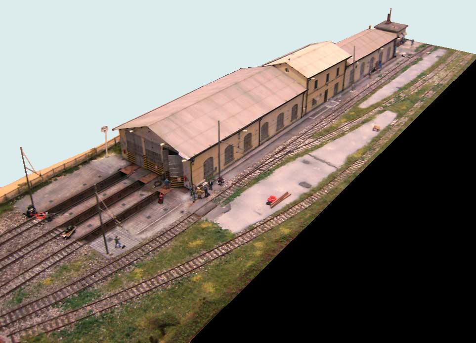 149 diorama ferroviario rimessa locomotive daposito pistoia for Piano di deposito