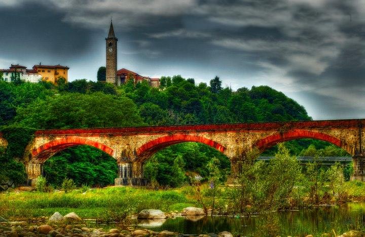 054 diorama ferroviario il ponte ferroviario di salussola for Biella arredi salussola
