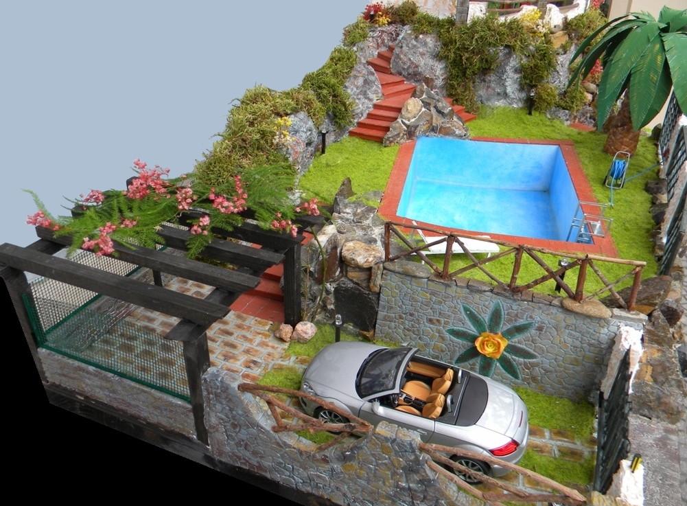 074 diorama villa ida - Scale in giardino ...