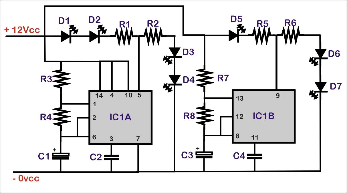 Schema Elettrico Per Yard : Schema elettrico per lampeggio led scala tt il forum