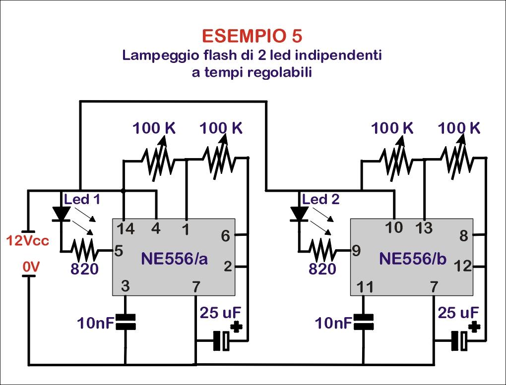 Schemi Elettrici Ne : Schemi elettrici per led di circuiti elettronici